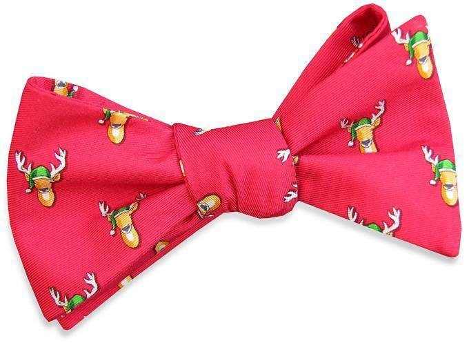 Bow Ties - Santa Stags Bow Tie In Red By Bird Dog Bay