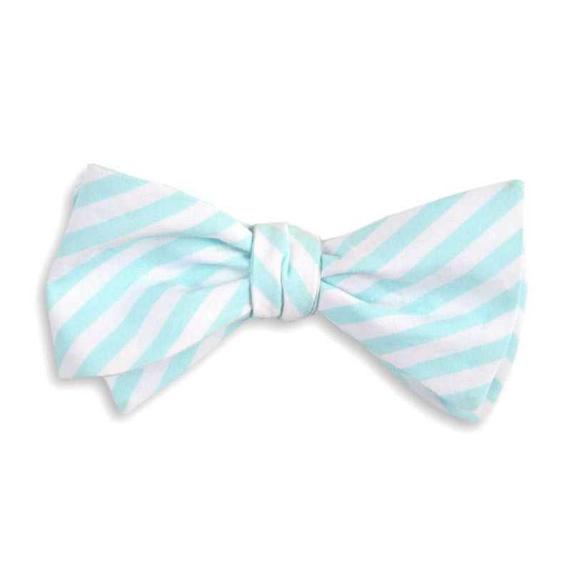 Bow Ties - Sea Glass Stripe Bow Tie In Aqua By High Cotton
