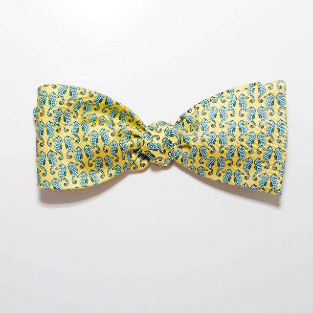 Bow Ties - Sea Horse Bow Tie In Yellow By Peter-Blair