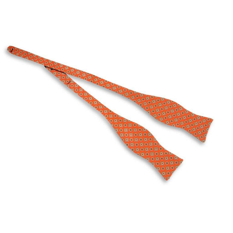Sienna Neat Bow Tie in Orange by High Cotton
