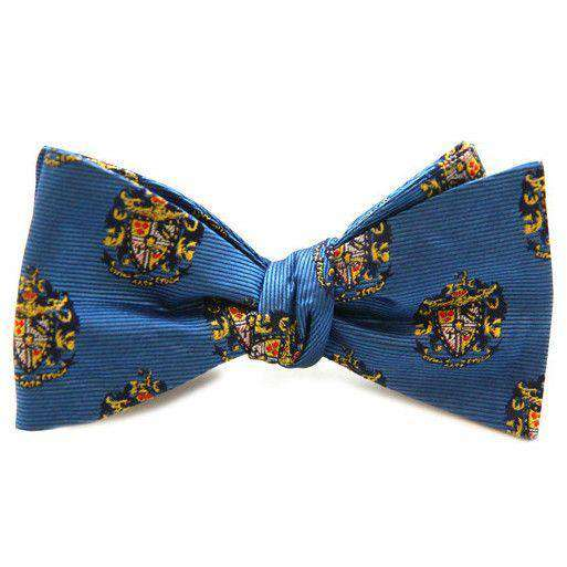 Sigma Alpha Epsilon Bow Tie in Blue by Dogwood Black - FINAL SALE