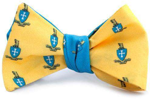 Bow Ties - Sigma Chi Reversible Bow Tie In Blue And Gold By Dogwood Black