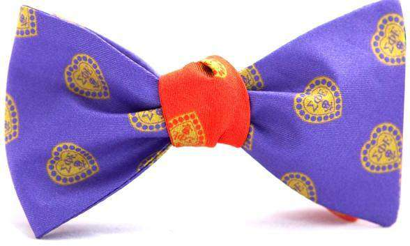 Sigma Phi Epsilon Reversible Bow Tie in Purple and Red by Dogwood Black