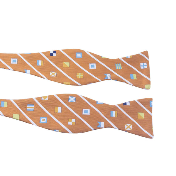 Bow Ties - Signal Flag Bow Tie In Orange By Anchored Style - FINAL SALE