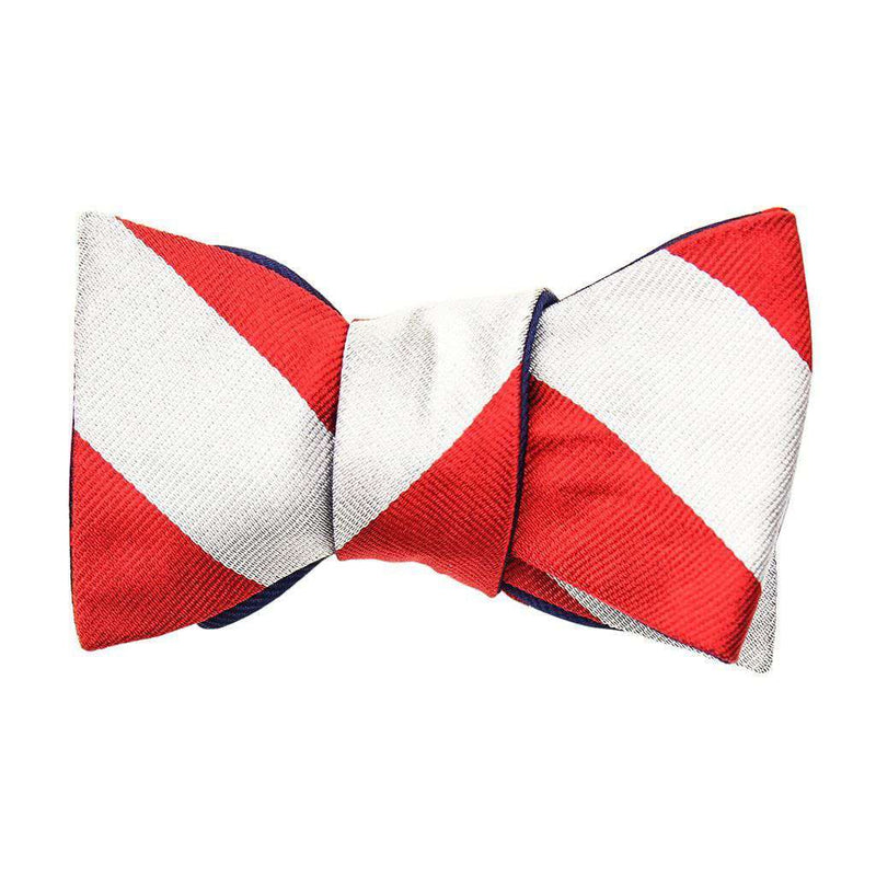 Silver/Red and Red Dots on Navy Bow Tie by Social Primer - FINAL SALE