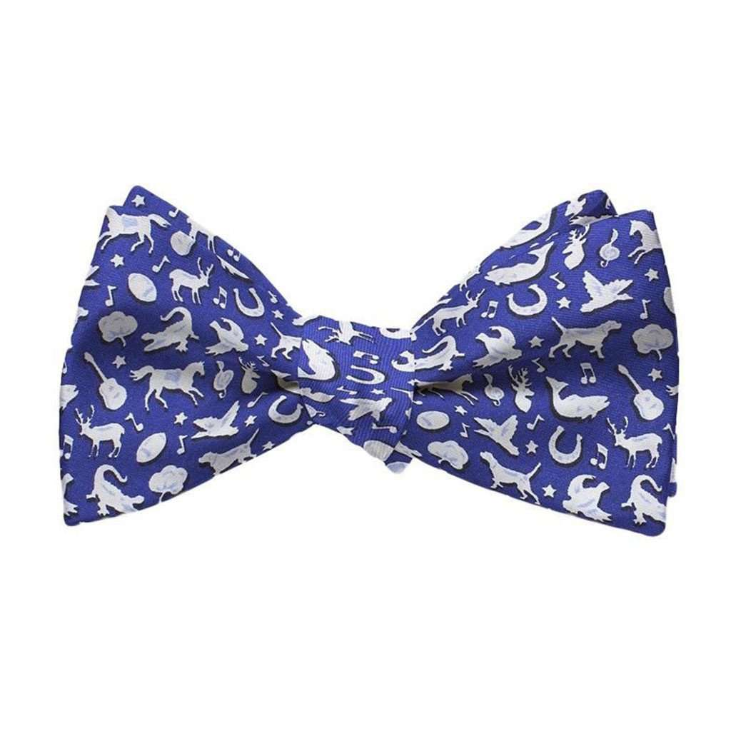 Bow Ties - Southern Soiree Bow Tie In Blue By Bird Dog Bay