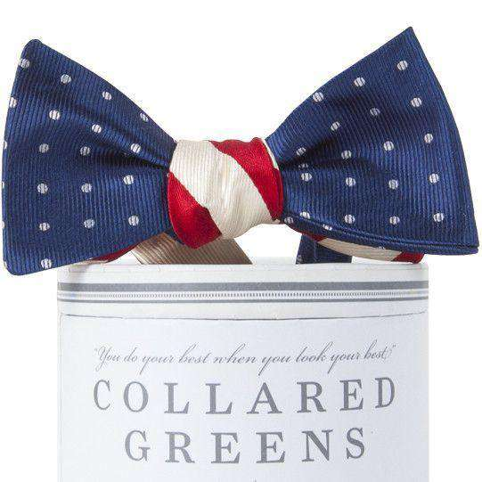 Stars and Stripes Mixer Bow in Red, White and Blue by Collared Greens