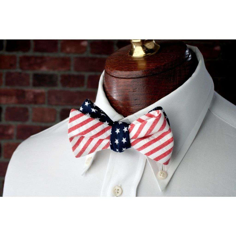 Bow Ties - Stars & Stripes Reversible Bow Tie In Red, White And Blue By High Cotton