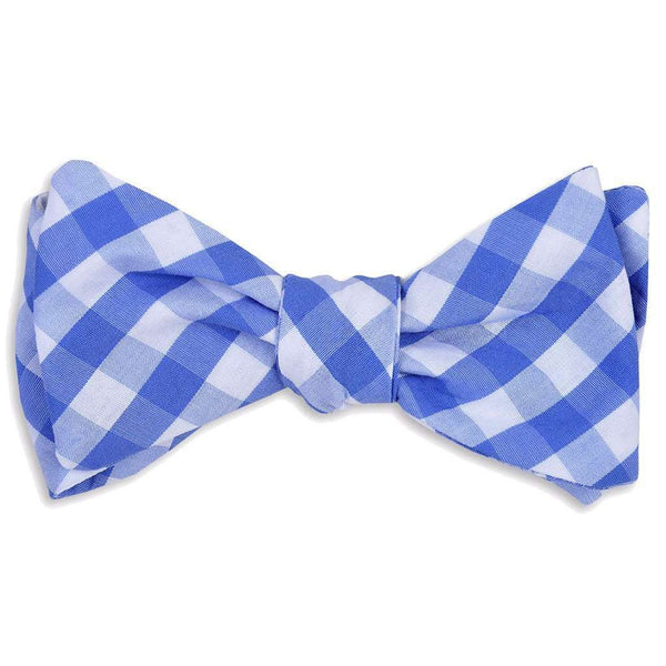 Summer Check Bow Tie in Grape by High Cotton - FINAL SALE