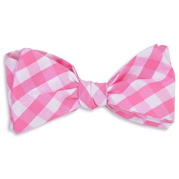 Summer Check Bow Tie in Strawberry by High Cotton