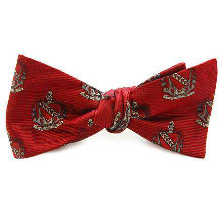 Tau Kappa Epsilon Bow Tie in Crimson by Dogwood Black - FINAL SALE