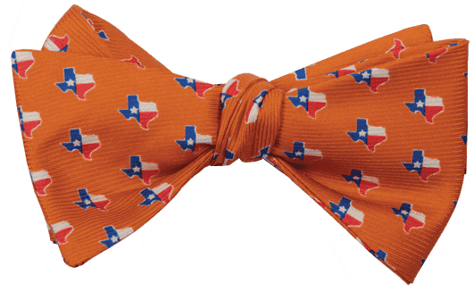 Texas Traditional Bowtie in Orange by State Traditions and Southern Proper - Country Club Prep