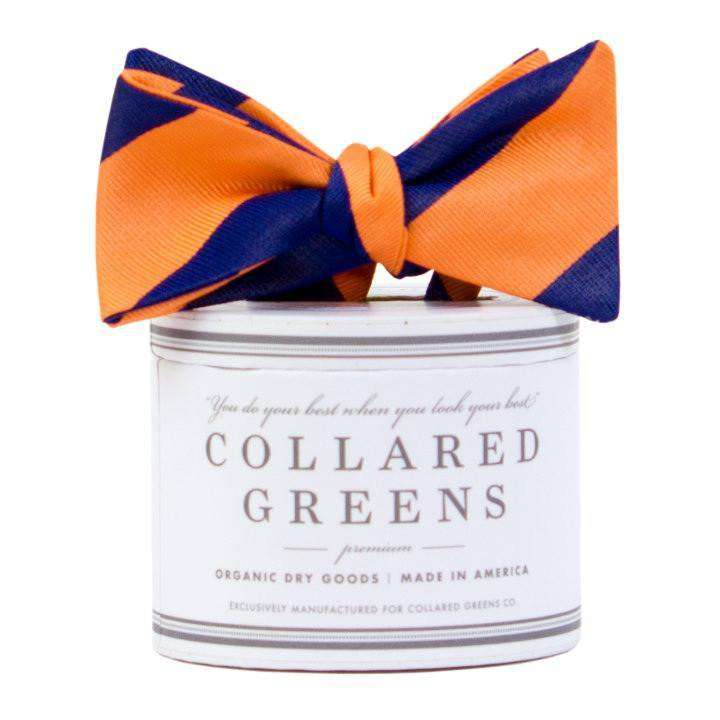 Bow Ties - The Benthaven Bow In Orange/Navy By Collared Greens