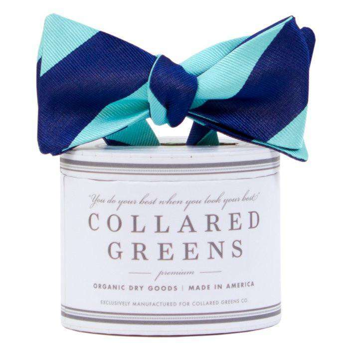Bow Ties - The Benthaven Bow In Teal/Navy By Collared Greens