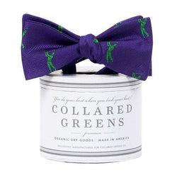 Bow Ties - The Bethpage Bow In Purple And Green By Collared Greens