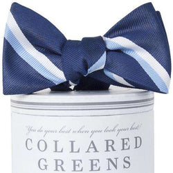 The George Bow Tie in Navy and Carolina Blue by Collared Greens