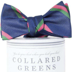The George Bow Tie in Navy and Pink by Collared Greens