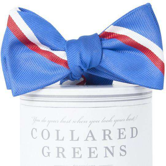 The George Bow Tie in Royal Blue and Red by Collared Greens