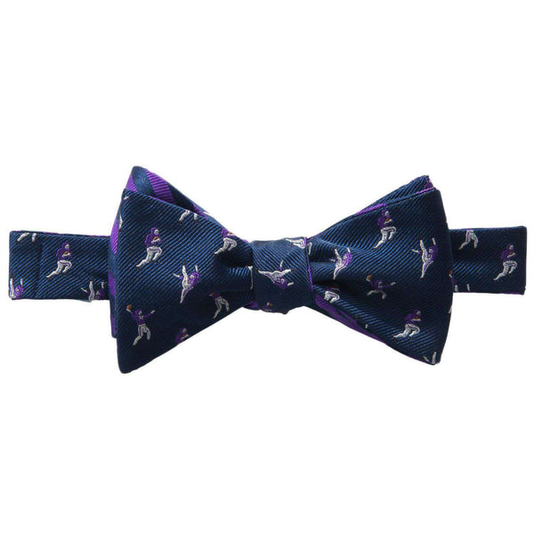 Bow Ties - The Hangtime Reversible Bow Tie In Navy & Regal Purple By Southern Tide