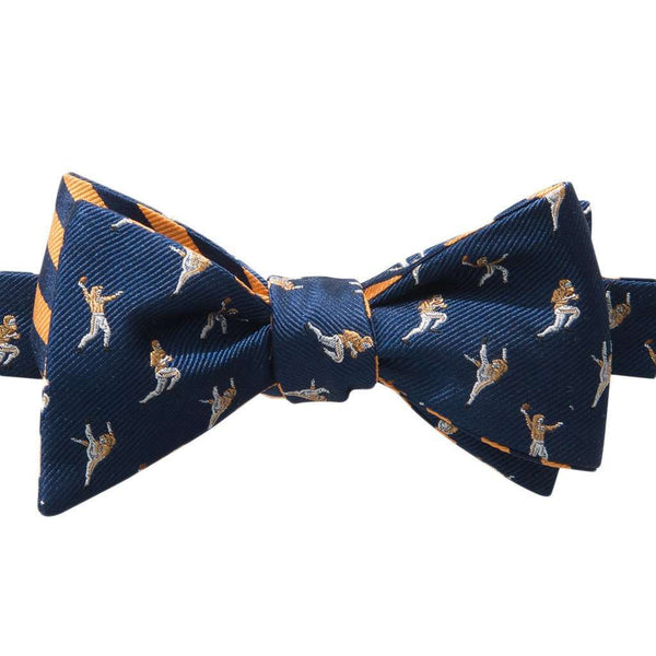 The Hangtime Reversible Bow Tie in Navy & Rocky Top Orange by Southern Tide