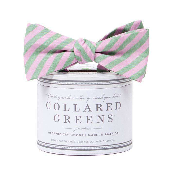 Bow Ties - The Kiawah Bow In Pink And Green By Collared Greens
