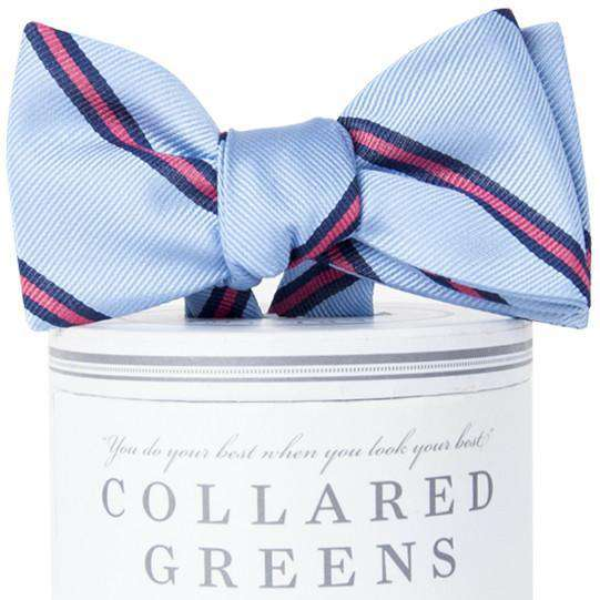 The Martin Bow Tie in Carolina Blue and Pink by Collared Greens