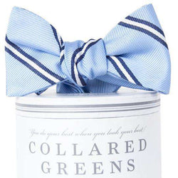 The Martin Bow Tie in Carolina Blue and White by Collared Greens