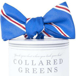 The Martin Bow Tie in Royal Blue and Red by Collared Greens