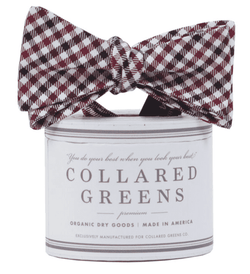 Bow Ties - The Mitchell Bow In Garnet/Black By Collared Greens