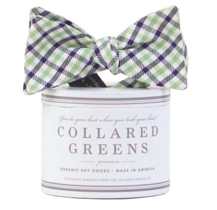 The Mitchell Bow in Green/Blue by Collared Greens
