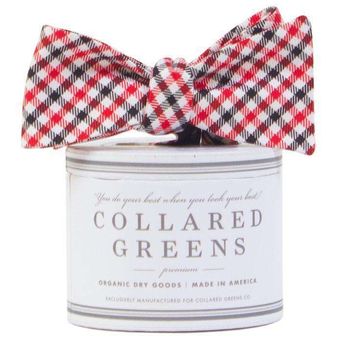 Bow Ties - The Mitchell Bow In Red/Black By Collared Greens