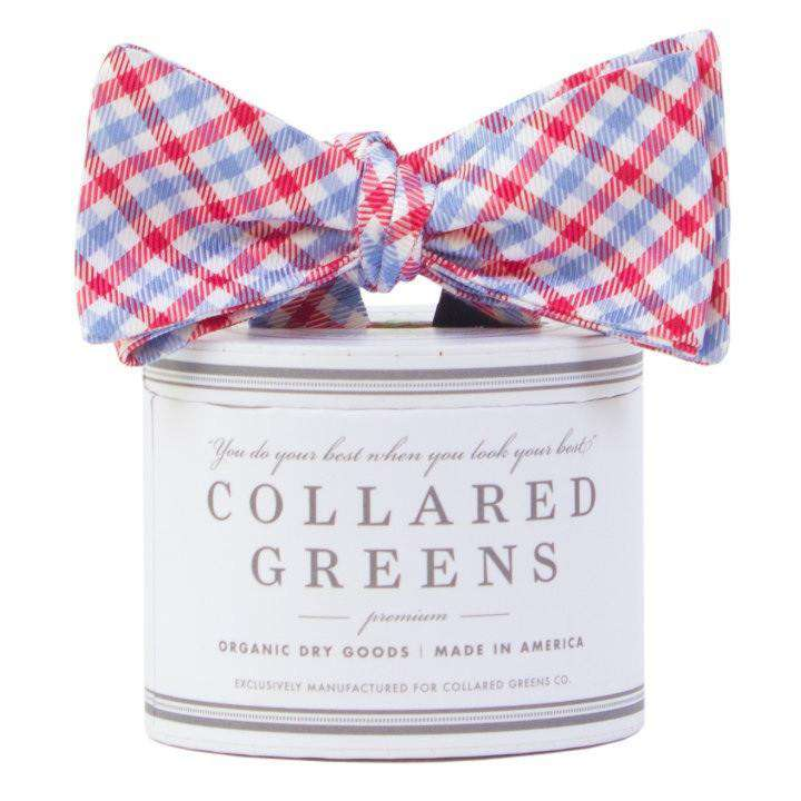 Bow Ties - The Mitchell Bow In Red/Carolina Blue By Collared Greens
