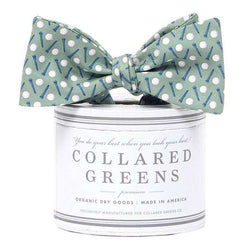 Bow Ties - The Pebble Bow In Sage Green By Collared Greens