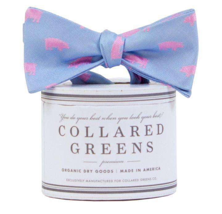 The Pig Bow Tie in Carolina/Pink by Collared Greens