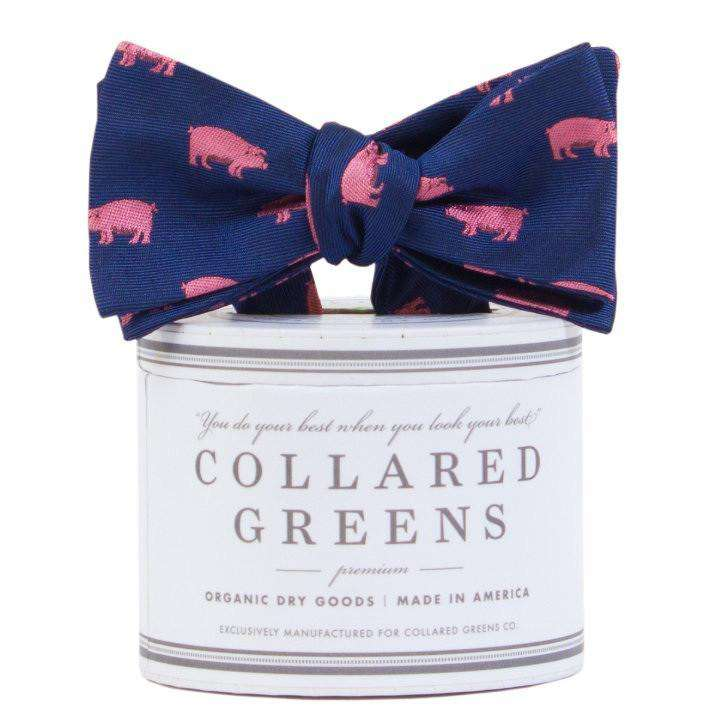 The Pig Bow Tie in Red/Pink by Collared Greens