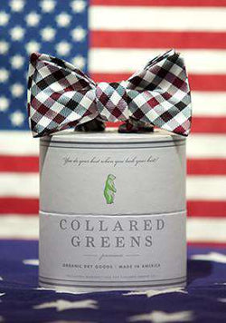 Bow Ties - The Quad Bow In Maroon/Black By Collared Greens