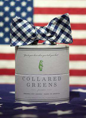 The Quad Bow in Navy/White by Collared Greens