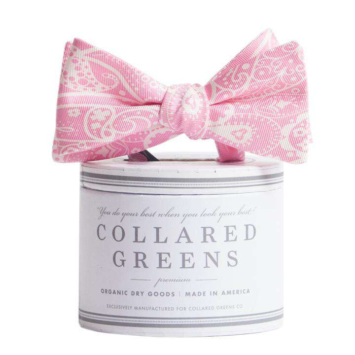 Bow Ties - The Seaside Paisley Bow In Pink By Collared Greens