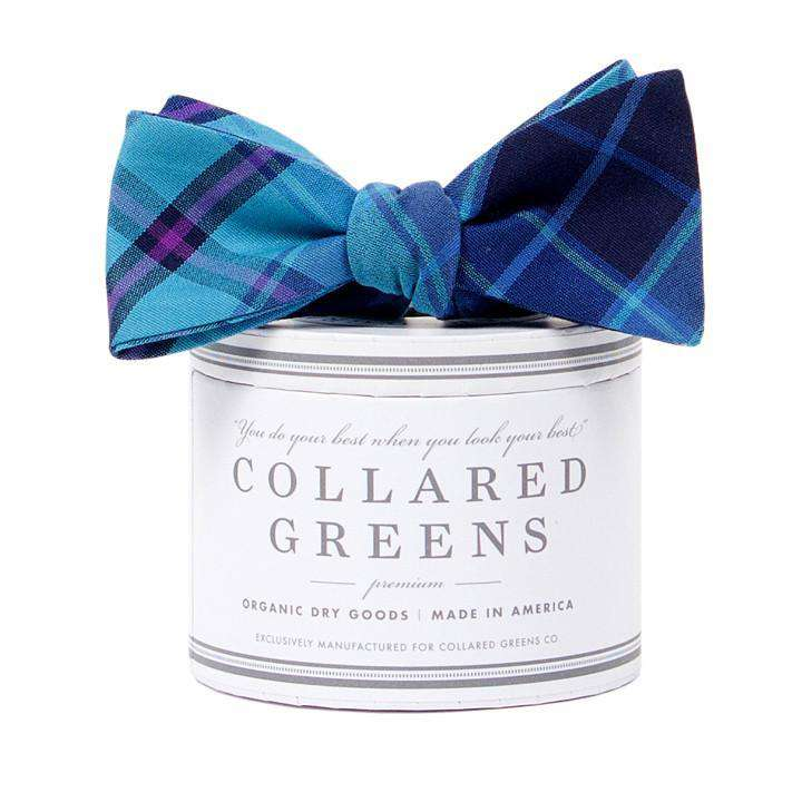 The Spyglass Plaid Bow in Blue and Green by Collared Greens