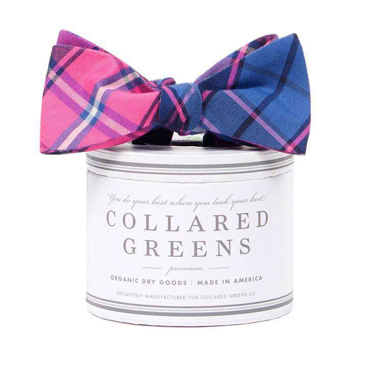 Bow Ties - The Spyglass Plaid Bow In Blue And Pink By Collared Greens