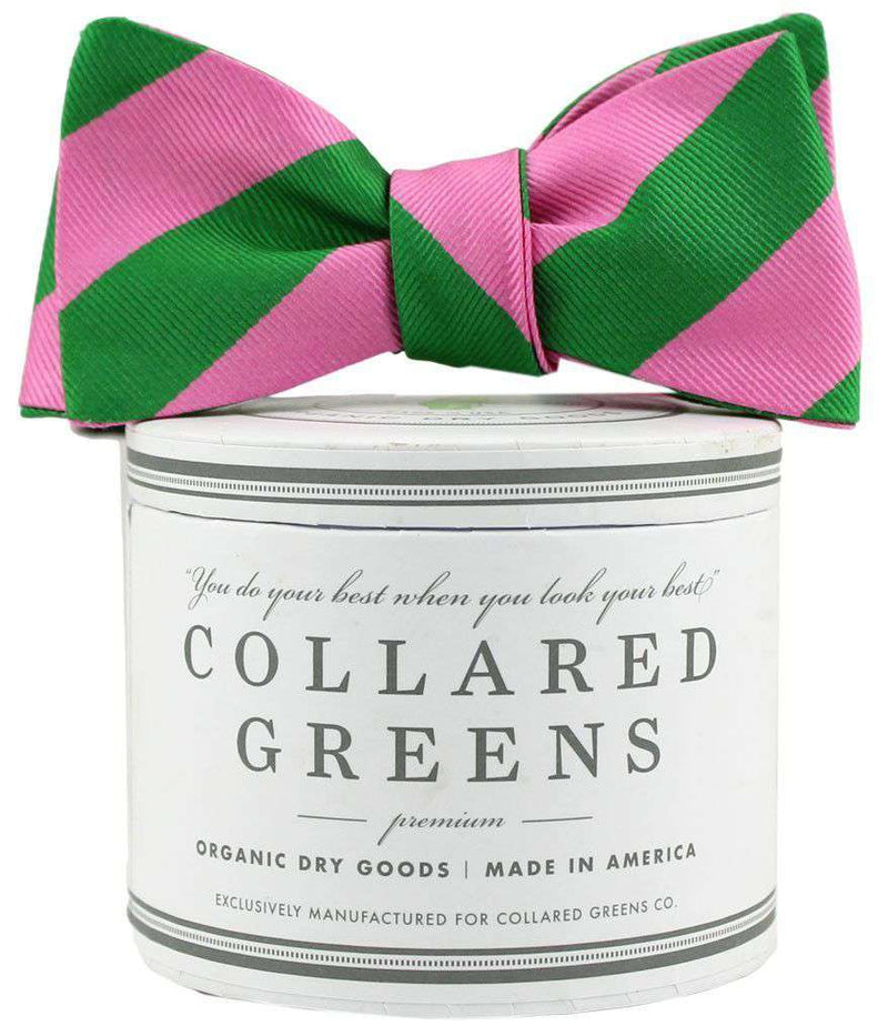 Bow Ties - The Torrey Bow In Pink And Green By Collared Greens