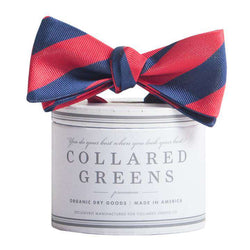 Bow Ties - The Torrey Bow In Red And Navy By Collared Greens