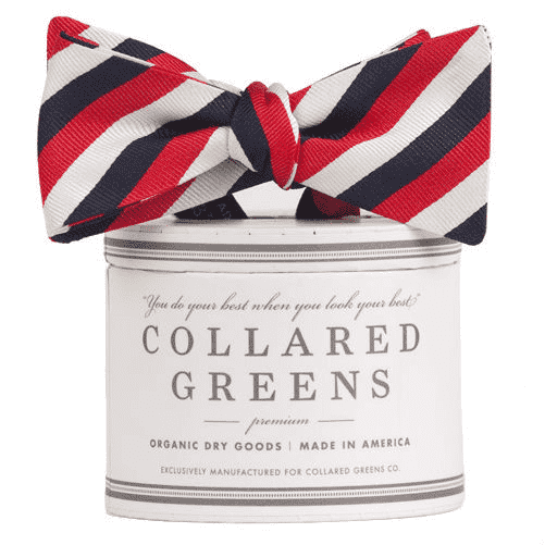 The USA Stripe Bow in Red, White and Blue by Collared Greens