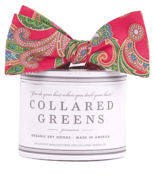 Bow Ties - The Wood Bow In Red By Collared Greens