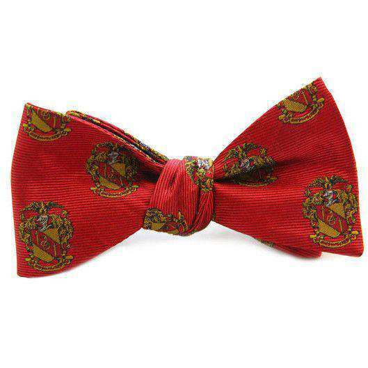Theta Chi Bow Tie in Red by Dogwood Black - FINAL SALE