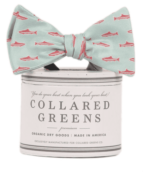 Trout Bow in Sea Green by Collared Greens