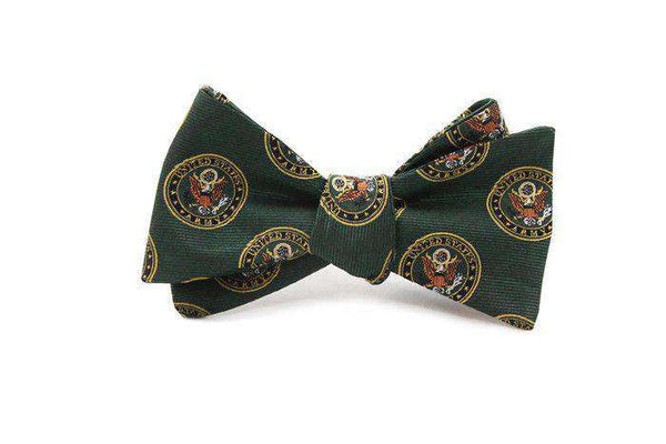 U.S. Army Bow Tie in Hunter Green by Dogwood Black - FINAL SALE