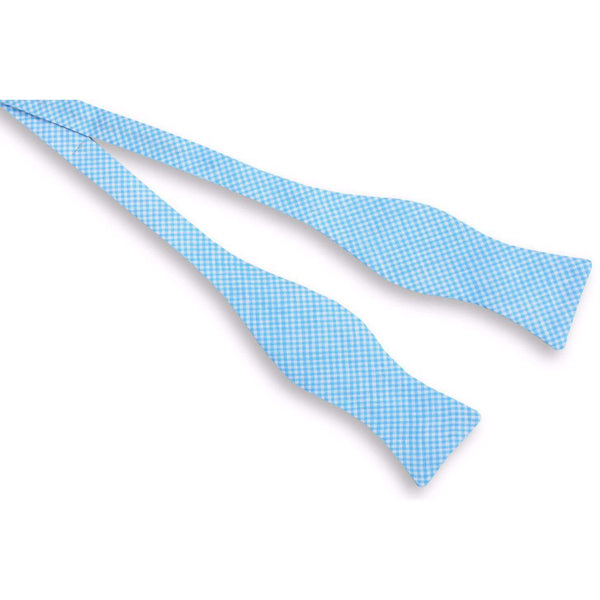 Warren Linen Bow Tie in Turquoise Blue by High Cotton