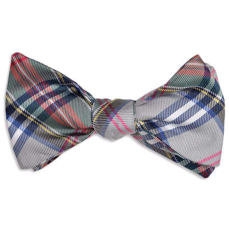 Bow Ties - Westbrook Bow Tie In Grey Plaid By High Cotton