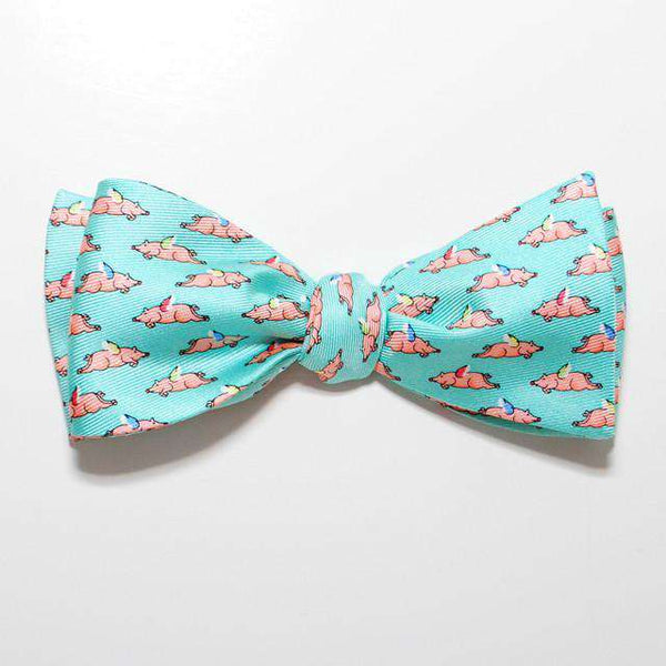 Bow Ties - When Pigs Fly Bow Tie In Aqua By Peter-Blair